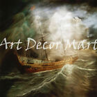 Ship In A Storm - - CANVAS OR PRINT WALL ART