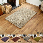 SMALL MEDIUM LARGE 7CM THICK PILE WOOL SHAGGY RED MULTICOLOR CLEARANCE RUGS SALE