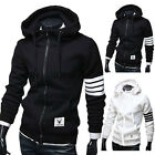 Hot Men's Winter Slim Hoodie Warm Hooded Sweatshirt Coat Jacket Outwear Sweater