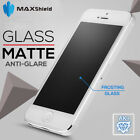 MAXSHIELD MATTE TEMPERED GLASS SCREEN PROTECTOR FOR APPLE IPHONE SE 5 5s 5c