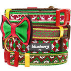 Blueberry Pet Christmas Party Holiday Season Dog Collar with Bowtie