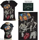 Glamhead The Rolling Stones BLACK & BLUE 2 Patches Fitted Baby Doll T-shirt NEW