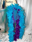 Big Peacock tail Burlesque Slashed Layer Feathers Bustle Belt Train  8-22