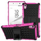 Heavy Duty Shock Proof Hybrid Impact Rugged Stand Case Cover For Sony Xperia