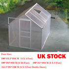 Greenhouse With Foundation Green Aluminium Polycarbonate Clip Sliding Door 4Size