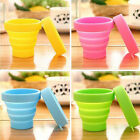 Portable Silicone Telescopic Drinking Collapsible Folding Cup Travel Camping HF