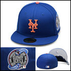 New Era New York Mets Fitted Hat  SUBWAY (ROYAL) World Series Side Patch 59fifty