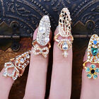 Fashion Bowknot Crown Crystal Finger Nail Art Ring Jewelry Nail Art Finger Rings
