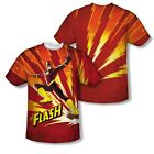 The Flash DC Comic Hero Lightning Fast 2-Sided All Over Print Poly Shirt S-3XL