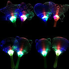 Plastic DIY Colorful LED Chinese Hand Fan Flashing Toys Costume Party SKUK