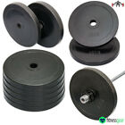 """2"""" Olympic Rubber Weight Plates Gym Body Building Crossfit Disc 5cm 15kg"""