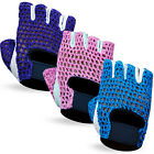 Ladies Weight Lifting Gloves Gym Training Body Building Gloves Strap Mesh Style