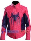The Amazing Spider Man Embossed Spider Logo Peter Parker Real Leather Jacket.