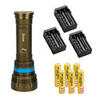 Underwater 100m SCUBA Diving 22000lm 9x L2 LED Flashlight Torch 6*18650+Charger