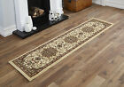 MEDIUM SMALL RUNNER 60 X 230CM  TRADITIONAL CLASSIC BEIGE CONTEMPORARY RUGS