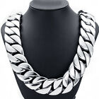 31MM Men Heavy Chain Silver Curb Link 316L Stainless Steel Necklace 18-30''