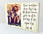 "Personalised 6x8"" plaque with photo best friends friendship quote gift  wp8"