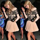 Women Sexy Evening Formal Party Cocktail Bridesmaid Prom Gown Celeb Lace Dress