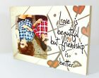 "Personalised 6x8"" plaque photo best friends friendship quote unique gift WP11"