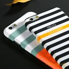 Art Stripes Pattern Silicone Hard PC Back Case Cover For Apple iPhone 5s 6S Plus