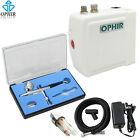 100V-240V Airbrush Compressor Kit with Dual-Action Airbrush for Tattoo Makeup