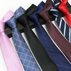 Factory 7cm  Men Classic Ties Stain Stripes Plaids Professional Skinny Neck Tie $4.75 CAD on eBay