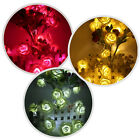 20 LED Rose Flower Fairy String Lights Wedding Xmas Party Home Garden Decor Lamp
