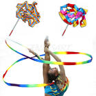 Gym Dance Ribbon Rhythmic Art Gymnastics Exercise Streamer Twirling Rod Wand 4M