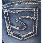 Silver Jeans Womens Suki Dark Wash Indigo Well Defined Mid Capri
