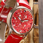 Fashion Women Flake Simple Leather Sport Quartz Wrist Watch Analog Blink Sequin
