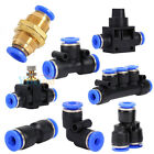 Pneumatic Push In Fittings Air Valve Water Hose Tube Pipe Connector Speed Joiner