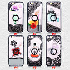 New Lace Perfume Bottle Lipstick Pattern Finger Ring Stand Case Cover For iPhone