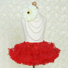 Sparkly Red TUTU SKIRT with Ruffles 3 sizes GIRLS Fancy Dance Petticoat Costume