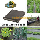 1M / 2M Wide Weed Control Fabric 100gsm Ground Cover Landscape Garden Mulch Mat