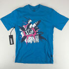 Addict She World NYC T-Shirt New  - Size: S M L - Blue