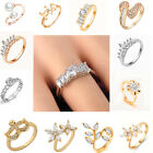 Exquisite Zircon Rings Fake Diamond for Women Wedding Engagement Crystal Jewelry
