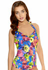 Freya Womens Swimwear Floral Pop Underwired Halter Tankini Top 3170 Rainbow