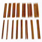 75pcs 15sets 2-10mm Double Pointed Carbonized Bamboo Knitting Needles 5.9-7.8 In
