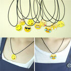 Fashion Charms Necklace EMOJI Emoticons Pendant String Chain For Women Girl H F