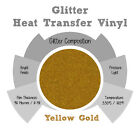 "Glitter IRON-ON Heat Transfer Vinyl 20"" x 12"" 1,3,5 and 10Yd *YELLOW GOLD*"
