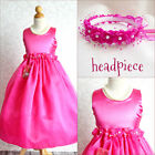 Adorable Fuchsia/hot pink graduation recital flower girl party dress all sizes