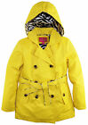 Pink Platinum Big Girls Hooded Trench Raincoat Jacket with Animal Accents Lining