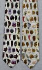 FOSSILS W/ NAMES PALEONTOLOGY GEOLOGY SCIENCE Museum Artifacts Silk Necktie NEW!