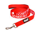 Colour Coded Red DO NOT PET Dog Lead Leash Heavy Duty or Collars S-M L-XL XX New