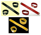2cm Artificial Leather Bracelet Wristband Black Red Yellow Unisex Girl Women 7""