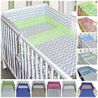 3 PC BABY BEDDING SET-BUMPER-PILLOW-QUILT COVER/COT 120x60 cm/ * 17 Pattern