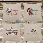 Christmas Cushion Cover Single COVER ONLY Xmas Pillow Personalised Linen Fabric