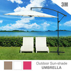 3M Garden Umbrella Outdoor Cantilever Shade Yard Deck Patio Market UV