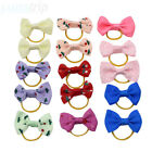 Bow Dog Hair Clips Small Puppy Rubber Band Hairpin Pet Grooming Accessories
