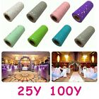 "6""x 25/100 Yards Sequins Tutu Tulle Rolls Spool Soft Wedding Decor Craft Fabric"